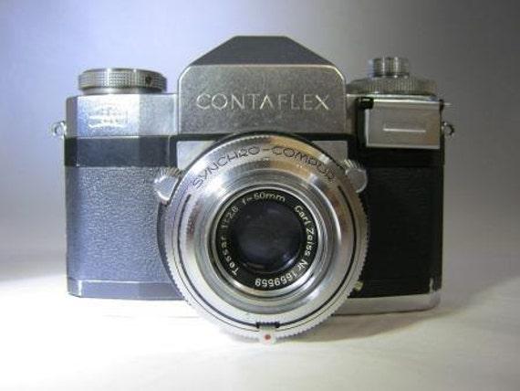 Zeiss Ikon Contaflex 35 mm SLR Camera w/ 50mm Tessar Carl Zeiss f2 8 Lens -  Used