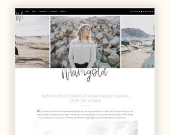 Marigold II - Responsive Blogger theme - custom slider, featured categories and about widget