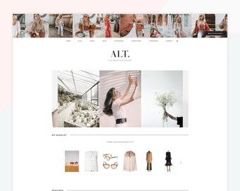 Alt - Responsive WordPress theme, customized blocks, slider & custom shop page for affiliate links
