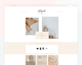Pitchfork - Responsive WordPress theme, customized homepage, compatible with WooCommerce, popup sign up, feminine design