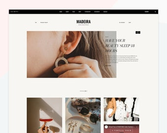 Madeira - Responsive WordPress theme, premade color styles, compatible with WooCommerce, different post layouts to choose from.
