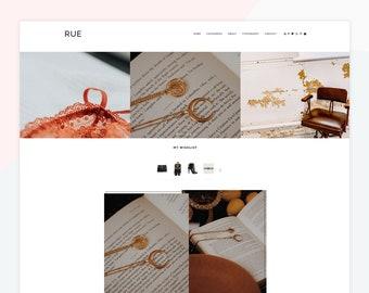 Rue - Responsive Blogger theme, custom posts, Pinterest, Instagram and YouTube widgets, Slider, feminine
