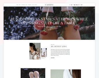 Carmine - Responsive WordPress theme, WooCommerce compatible, load more button, magazine layout, homepage about widget.