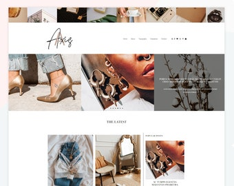 Axis - Responsive Blogger theme, custom posts, Pinterest and Instagram widgets, Featured Posts, roll over photo, feminine