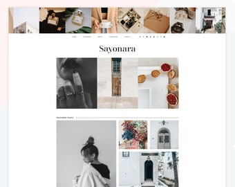 Sayonara - Responsive Blogger theme, clean and modern design