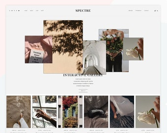 Spectre - Responsive WordPress theme, WooCommerce compatible, interactive gallery, homepage about widget.