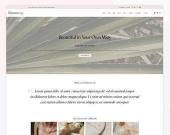 Element - Responsive WooCommerce WordPress theme, suitable for shop websites with option for a blog page.