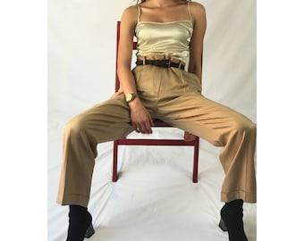 100% Silk Wide-leg Pants