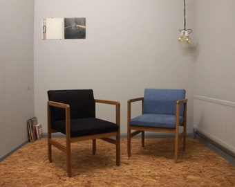 Lounge Chairs - Limted Edition - Reupholstered - Denim Uniqueness