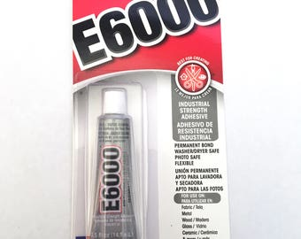 E6000 - Fabric Glue - 29.5 ml - Clear, strong - costume glue - rhinestone adhesive - gems, jewel bond - multipurpose - permanent - washable