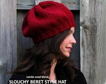 0b7c9d32273 Slouchy Knit Beret hat