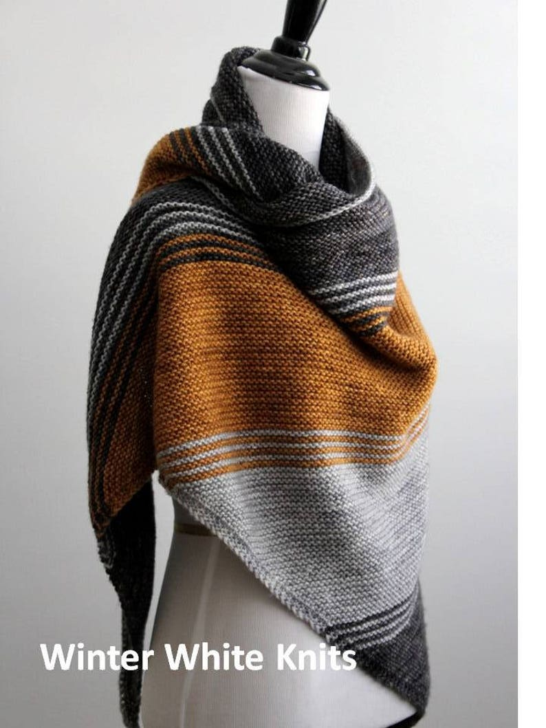 Knitting Pattern Knit Shawl Triangle Scarf Pattern Pdf Etsy