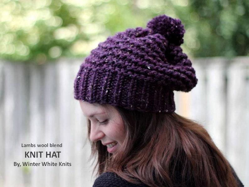 991666cc5a8 KNIT HAT. winter pom pom hat chunky knit hat beanie hat