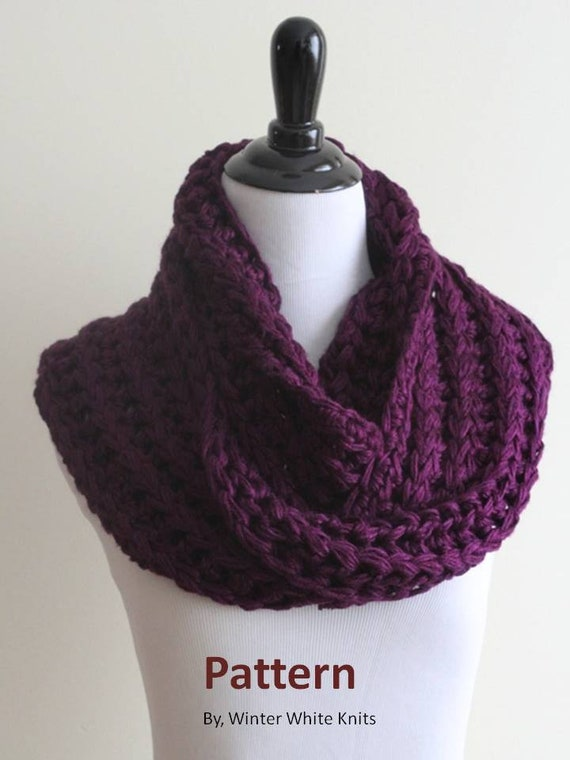 Crochet Scarf Pattern Infinity Scarf Pdf Instant Download Etsy