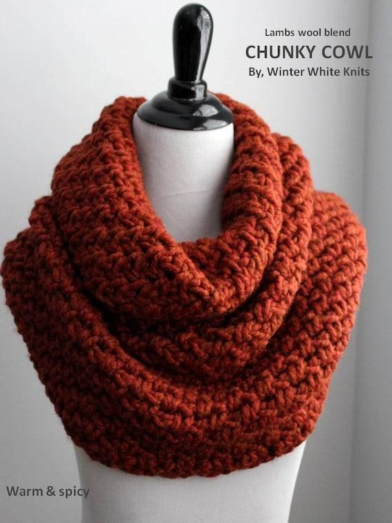 Trop de taille col en tricot écharpe cache-col infini   Etsy b9267dcb76e