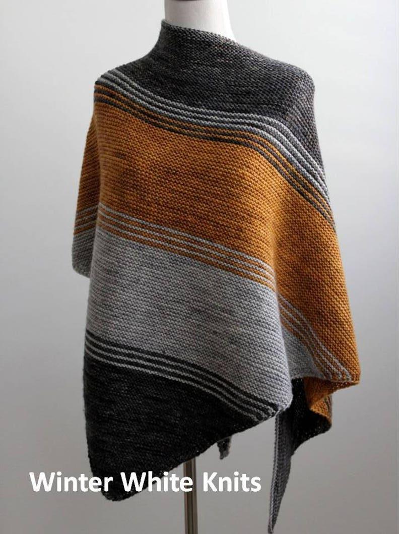 Knitting Pattern Knit Shawl Pattern Triangle Scarf Pattern Etsy