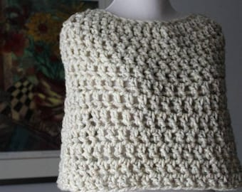 Capelet, Poncho, Wool Shawl, Crochet Bridal Shawl, Knit Cowl, Wedding capelet, Bridal cape, Fall fashion cape, caplet