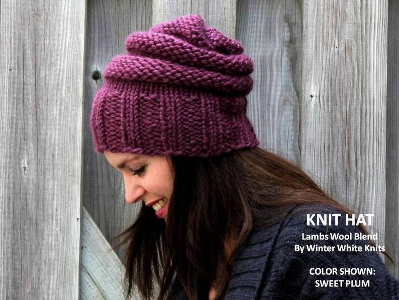 7ae96778545 Knit hat chunky knit hat winter hat THE ELORA HAT hand