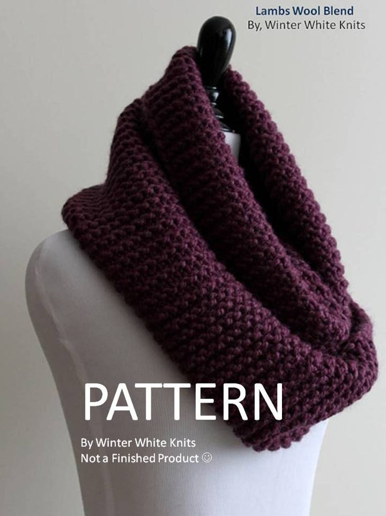 8ee9a29d7c1 Pattern knit scarf PDF Instant Download Knitting Pattern