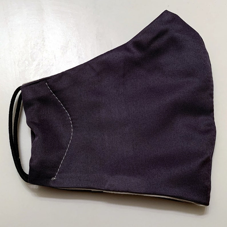 2-Pack Mens SOLIDS Face Mask Coverings Free Shipping and Navy