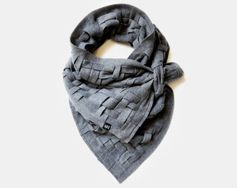 Handwoven Scarf, Blanket Scarf Shawls and Wraps, Soft Oversized Scarf, Unique Handmade Scarves, Ladies Fashion Scarf, Chunky Infinity Scarf