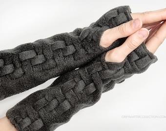 Fingerless Glove Fingerless Mittens Handmade Wrist Warmers Adjustable Length Arm Warmers Convertible Mitts Hand Warmers