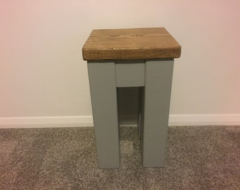 Four legged Side End Table painted