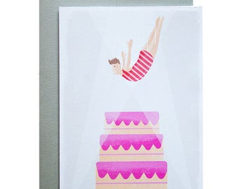 High Diver Birthday Greeting Card