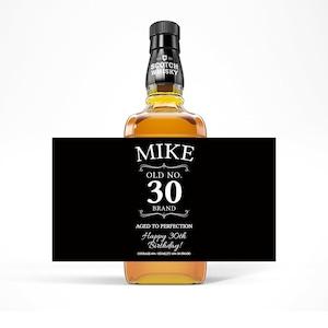 Dirty 30 Thirty Birthday Whiskey Labels Scotch Label Man Birthday Gift Birthday Gift 40th birthday 21st Birthday