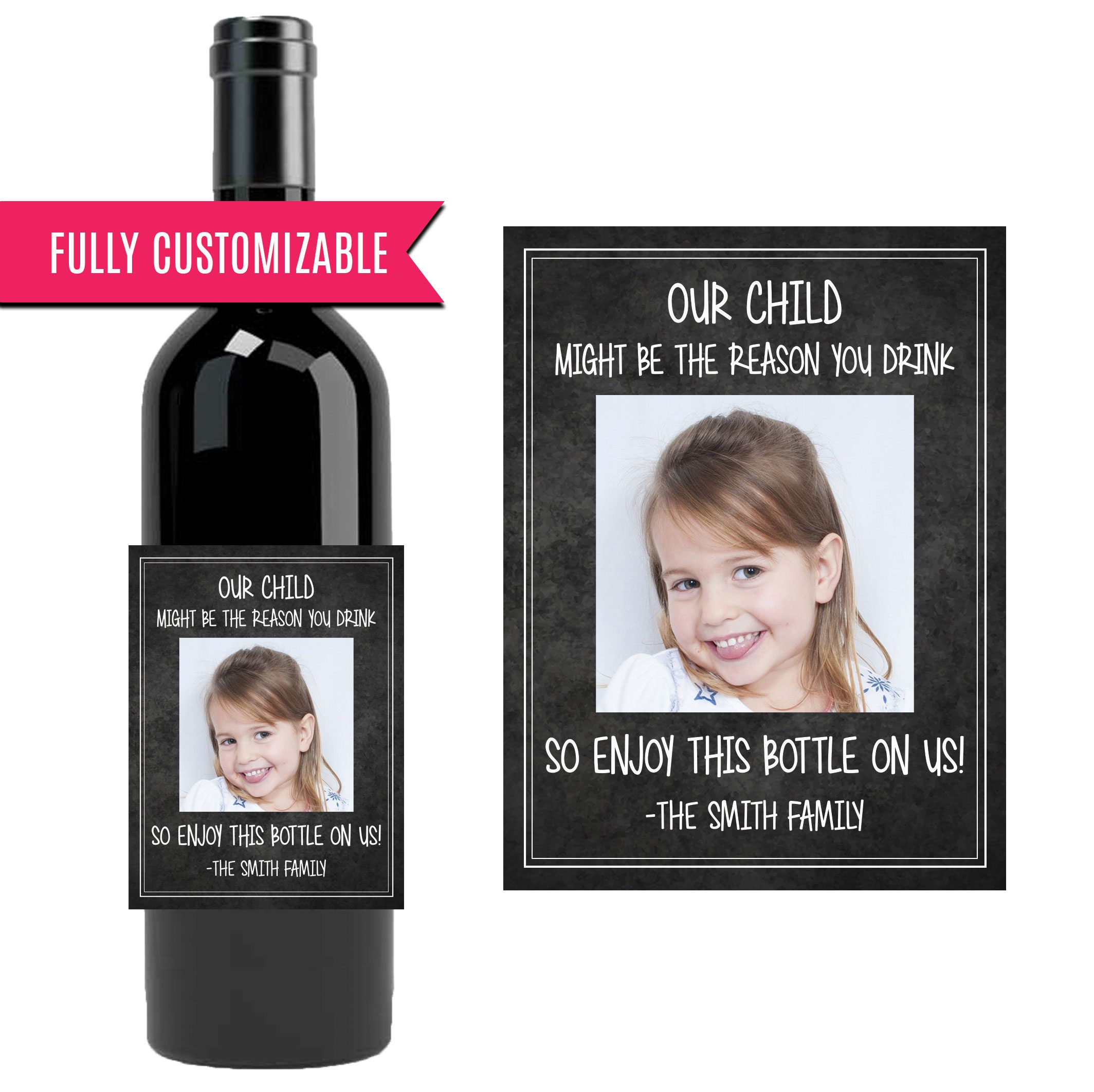 Geschenk für einen Lehrer-Wein-Flaschen-Etikett unser Kind | Etsy