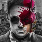 Daredevil Splatter Painting