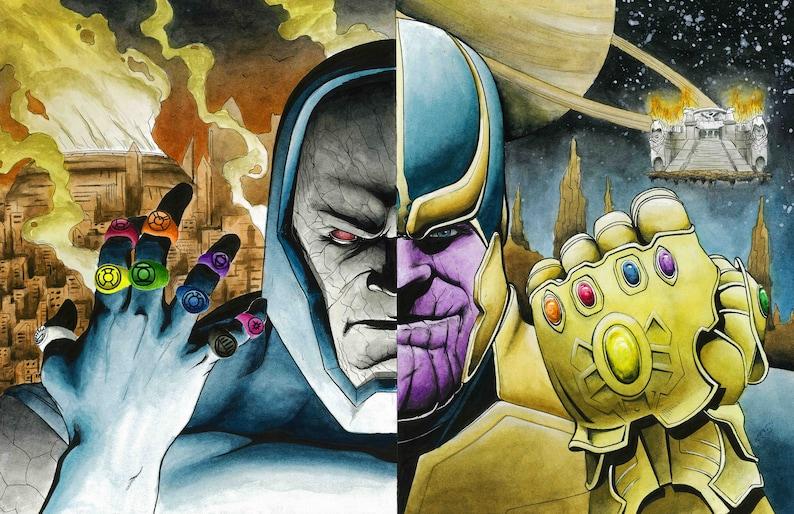 Thanos/ Darkseid Portrait Split