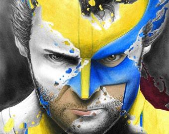 Wolverine Portrait Splatter
