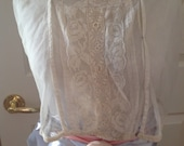 Handmade ANTIQUE Corset Cover Camisole Irish Lace, Net. BEAUTIFUL