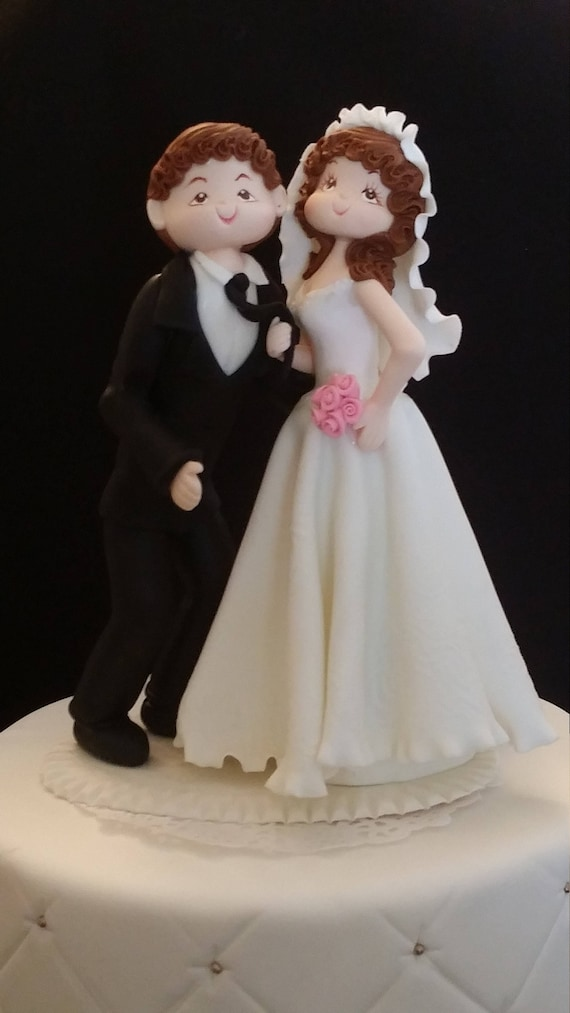 Wedding Cake Topper Funny wedding Cake Topper Bride and | Etsy