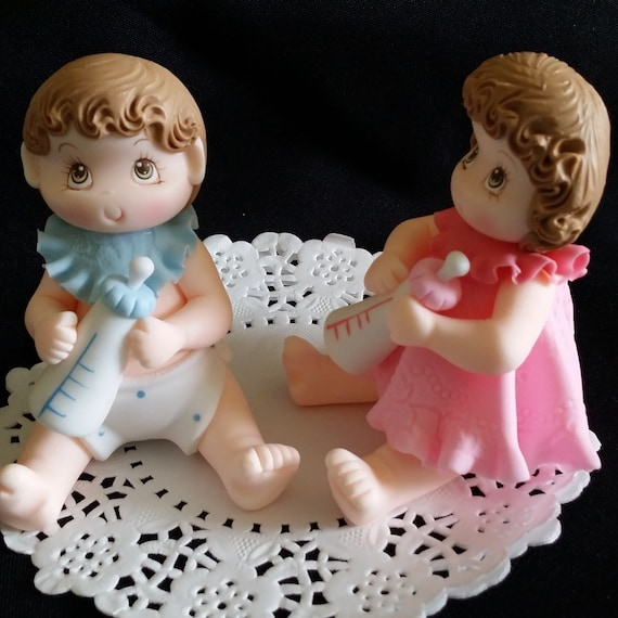 Twin Baby Shower Cake Toppers: Baby Shower Cake Topper Twins Baby Cake Topper Baby Shower