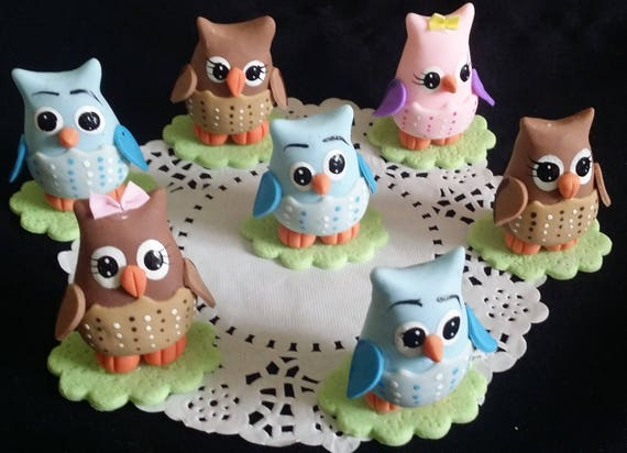 Owl Baby Shower Owl Cake Topper Owls Cake Decor Owl First Etsy