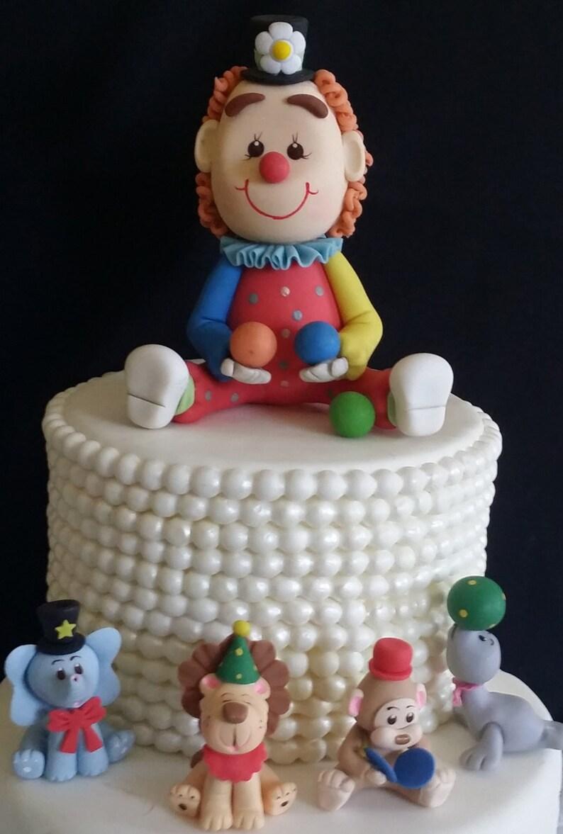 Circus Baby Shower Decoration Boy Birthday Cake