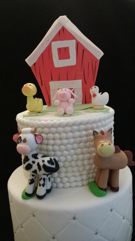 Farm Cake Toppers Farm Animals Farm Birthday Party Farm Etsy