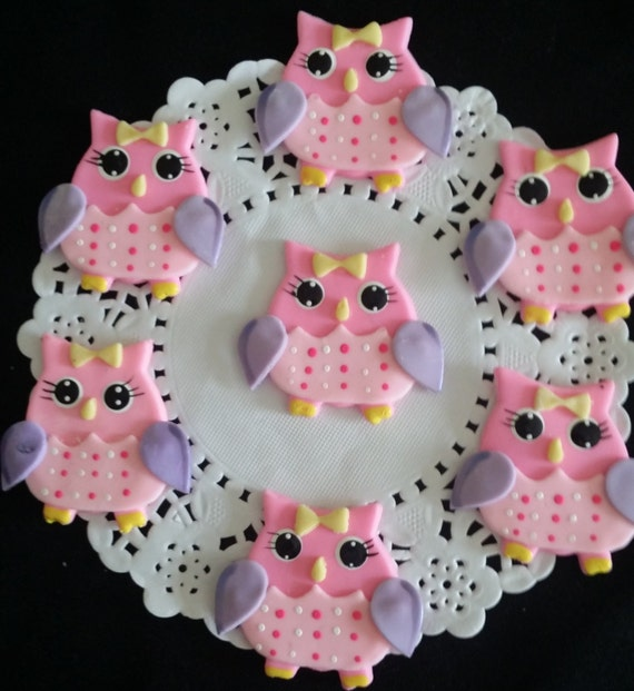 Owl Baby Shower Owl Cake Topper Owls Cupcake Toppers Owl Etsy