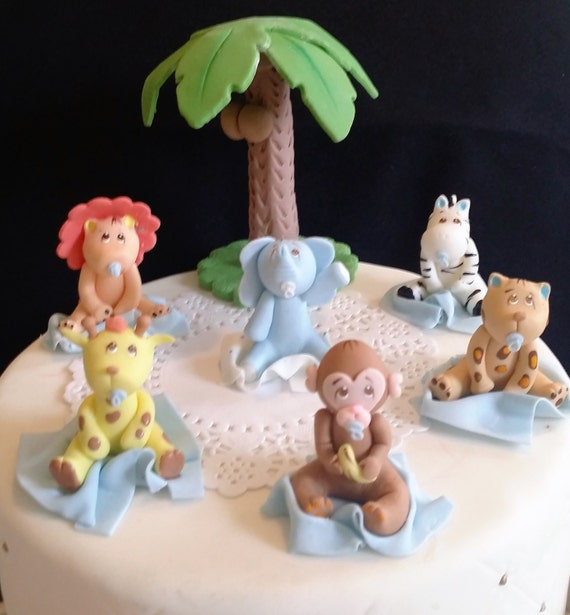 Jungle Cake Toppers Jungle Baby Shower Safari Baby Shower Etsy