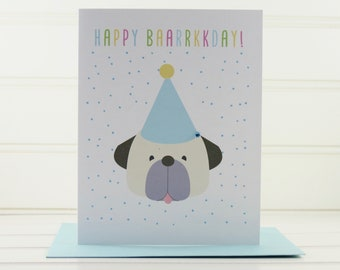 Cute Dog Birthday Card From The Custom For Lover Owner Mom Dad Walker
