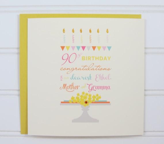 Custom Birthday Card 40th Birthday Card 50th Birthday Card Etsy