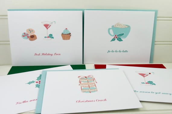 Boxed set of christmas cards cute holiday cards card for etsy image 0 m4hsunfo