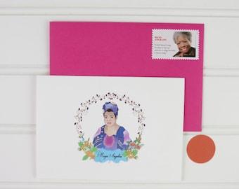 Maya Angelou Cards, Maya Angelou Stationery, Maya Angelou Gift for Her, Blank Boxed Notecards, Writer, Poet, Maya Angelou Fan, Activist, Mom