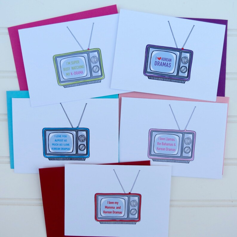 Korean Drama Card, K Drama Card, Greeting Card for K-Drama Fan, Friend,  Mom, Sister, Bestie, BFF, Cute Card, Funny Card, TV Card, Television