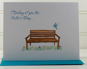 Fathers Day Grief Card, Deceased Father, Deceased Dad, Grief Card, Empathy Card, Sympathy Card, Loss of Father, Dad Deceased, Dad in Heaven