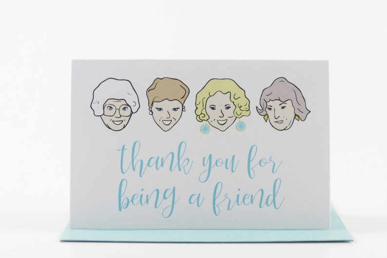 Golden Girls Cards Mini Cards Thank You for Being a Friend image 0