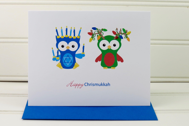 Chrismukkah Card Christmas Hanukkah Card For Interfaith Etsy