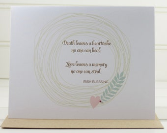 Sympathy Card, Grief Card, Bereavement Card, Condolence Card, Loss Card, Death Card, Thinking of You Card, Irish Blessing, Deepest Sympathy